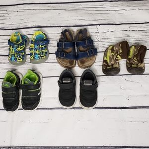 Five Pairs of Boys Baby Shoes Size 3 - 5